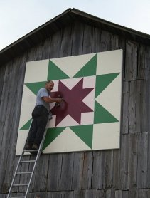 North Star Quilt Block Quaker Farm Alcona County Quilt Trail Project